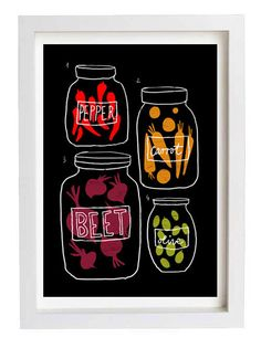 Science of pickles - Kitchen Art Print