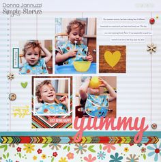 yummy {Simple Stories} - Scrapbook.com - Good Day Sunshine collection by Simple Stories.