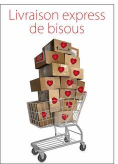 Carte Livraison de bisous pour envoyer par La Poste, sur Merci-Facteur !
