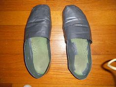 Awesome! make your own TOMS shoes out of duct tape. Would be cool spraypainted too