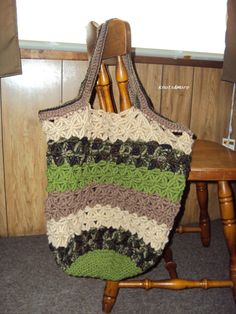 Crochet Market Tote by KnotsnMore on Etsy,