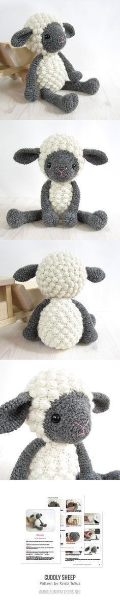English Pattern  Cuddly sheep ✿⊱╮Teresa Restegui http://www.pinterest.com/teretegui/✿⊱╮