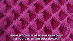 Punto tejido a crochet # 9 para bufandas y cobijas de bebe - YouTube