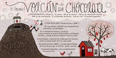 Cositas Ricas Ilustradas por Pati Aguilera: Volcán de Chocolate