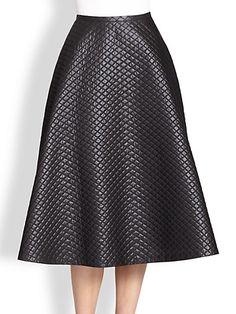 Michael Kors - Quilted Bias Circle Skirt - Saks.com