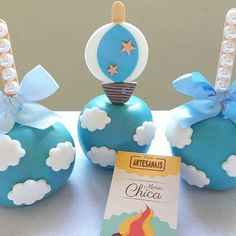 Air Balloon, Balloons, Baby Shower, Amazing Cakes, Cake Pops, Cupcake Cakes, Baby Boy, Birthday Parties, Apple