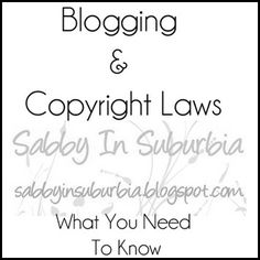 Sabby In Suburbia: Here's a little story about Breaking Copyright Laws