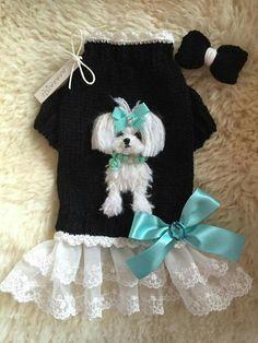 Crochet Cat Costume Dog Sweaters 42 Ideas - Одежда для собак - Five Cat Yorkie Clothes, Pet Clothes, Doll Clothes, Crochet Dog Clothes, Dog Clothes Patterns, Dog Items, Pet Fashion, Pet Costumes, Dog Pattern