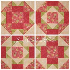 Same Pattern, 4 Different Blocks. Color and Value Placement Makes That Happen!!