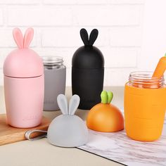 Rabbit Ear and Carrot Glass Bottle. Get yours now with 5 different choice of colours! Link in Bio 😍 #bunnymug #rabbitmugs #rabbitmug #rabbitthermos #bunnymugs #rabbitwaterbottle #bunnywaterbottle #bunnybottle #rabbitbottle