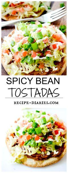 Spicy Bean Tostadas - Recipe Diaries Taco Tuesday night