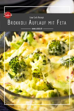 carb broccoli and cheese gratin - Low Carb Brokkoli-Käse-Gratin Do you like broccoli and cheese and feta cheese? Then you have to try our low carb broccoli feta casserole. Veggie Recipes, Low Carb Recipes, Diet Recipes, Vegetarian Recipes, Healthy Recipes, Cheese Recipes, Salad Recipes, Broccoli Gratin, Broccoli And Cheese
