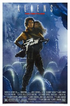 "I've Just come to the realization that My favorite movies are with strong women....especially Maternally! ""Get away from her you Bitch!""  One of my all time favorite lines!! Something I would say if anyone tried to hurt one of mine!!  Aliens movie poster"