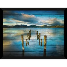 Shop for Versilia Massaciuccoli, Tuscany, Italy Giclee Wood Wall Decor. Get free delivery On EVERYTHING* Overstock - Your Online Art Gallery Store! Pallet Painting, Pallet Art, Diy Painting, Painting On Wood, Wood Wall Decor, Driftwood Art, Beach Scenes, Beach Art, Tuscany Italy