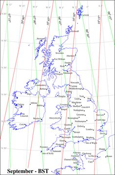 UK Sunrise/set times for September