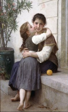 Calinerie (A Little Coaxing) by William-Adolphe Bouguereau. Painting analysis, large resolution images, user comments, slideshow and much more. William Adolphe Bouguereau, Munier, Foto Art, Mother And Child, Beautiful Paintings, Amazing Artwork, Oeuvre D'art, Painting & Drawing, Art History