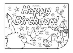 Birthday Party Place Mats - farm animal theme!   Visit iChild.co.uk for lots more birthday ideas!
