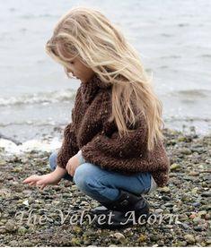 Knitting Pattern  Riyver Cape 2 3/4 5/7 8/10 11/13