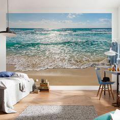East Urban Home Wolfeboro Seaside Wall Mural Photo Wallpaper, Wallpaper Roll, Seaside Wallpaper, Strand Wallpaper, Beach Wall Murals, 3d Wall Murals, Wall Murals Bedroom, Wall Art, Wall Design