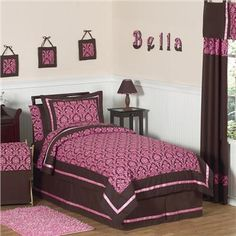 30 Best Pink And Brown Bedding Images Brown Bed