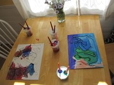 Paint Yarn Art Project