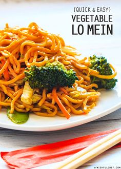 Quick and Easy Vegetable Lo Mein // wishfulchef.com