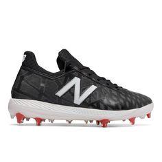 best value 89428 6da44 New Balance COMP1 Mens Molded Baseball Cleat, Black White