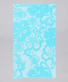 Take a look at this Aqua Tropical Hibiscus Towel by Espalma on #zulily today!
