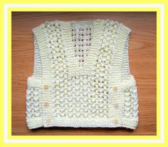 This cute little baby top was inspired by a photo of a beautiful Turkish knitted baby vest.   It is knitted all in one piece and there ...