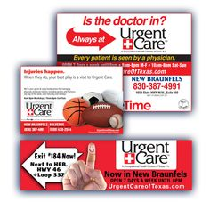 Urgent Care of Texas - Magazine Ad | Poster | Billboard