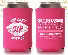 Mean Girls inspired Bachelorette party? Oh hell yes! Bachelorette Mean Girls Custom Can Cooler Beer by TheDrinkingBuddy