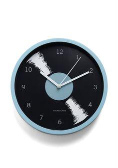 """Bold-en Times Clock in Rhythm."" modcloth.com $15.99. For some odd reason, I just adore clocks!"