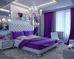 50 Gorgeous Master Bedroom Designs Purple master bedroom Master