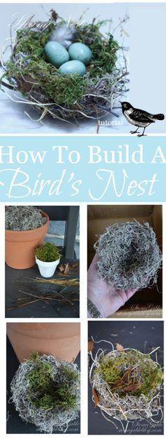 SPRING BIRD NEST TUTORIAL
