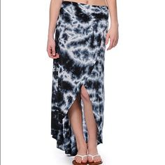 High low  printed maxi skirt Like new Skirts Maxi