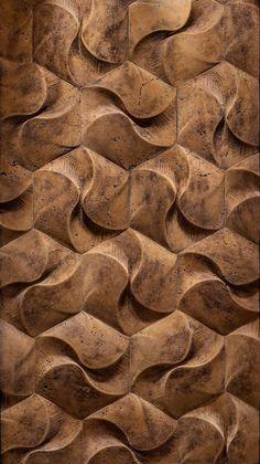 Motif dinding Tile Design, Door Design, Pattern Design, Wooden Art, Wooden Walls, Wood Patterns, Textures Patterns, 3d Wall Tiles, Menue Design