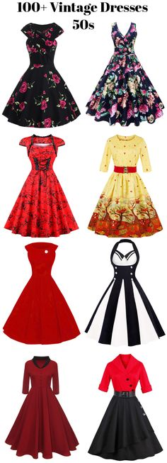 100+ Vintage Dresses 50s are free of your choices! sammydress,sammydress.com