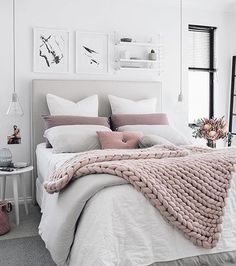 Instagram Ytics Bedroom Ideas Greypink Gray Bedroomcozy White