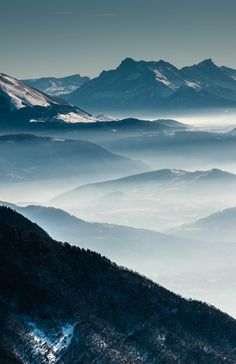 White and Blue Layers by Pat Rice