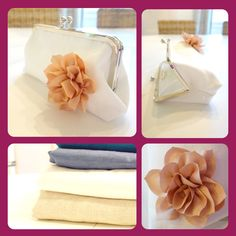 Lotte Clutch - Linen Flower Bridal or Bridesmaid Handbag - Carlacopia Bridal Accessories, Fashion Accessories, Bridal Clutch, Blue Bridesmaid Dresses, Clutch Purse, Colorful Flowers, Bridal Collection, Handmade Clutch, Gift Guide
