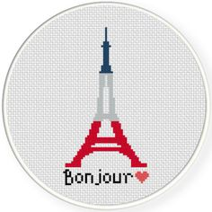 FREE for June 12th 2015 Only - Bonjour Cross Stitch Pattern