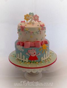 peppa pig cake Peppa Pig Birthday Cake, Birthday Cake Girls, 3rd Birthday, Birthday Ideas, Tortas Peppa Pig, Peppa Pig Cakes, Girl Cakes, Celebration Cakes, Themed Cakes