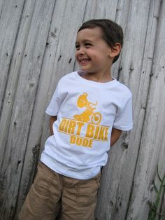 Dirt Bike Dude Baby / Kids TShirt by MotorMunchkins on Etsy, $14.99