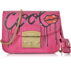 a8dde774157 Furla Metropolis Mania Pinky Leather Mini Crossbody Bag ( 378) ❤ liked on Polyvore  featuring bags, handbags, shoulder bags, mini crossbody, pink leather ...
