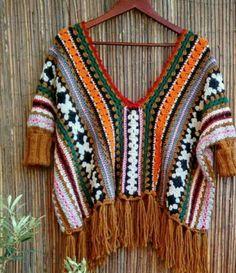 Není k dispozici žádný popis fotky. Crochet Jacket, Crochet Cardigan, Crochet Shawl, Crochet Stitches, Crochet Woman, Love Crochet, Beautiful Crochet, Knit Crochet, Crochet Designs