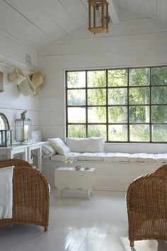~ white. wicker. seaside ~