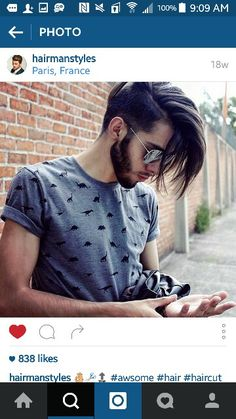 Mens long undercut