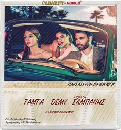 Στο #Cabaret #Romeo στη Γλυφαδα εμφανίζονται ο #Σαμπανης, η Demy, η Τάμτα και οι #Μέλισσες. Τιμές - κρατήσεις - προσφορές στο Τηλέφωνο: 211.850.3680 http://www.athensreserve.gr/mpouzoukia/cabaret/