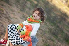 Black Friday Orange Fingerless Gloves mittens Women's by SabaKnits, $25.00