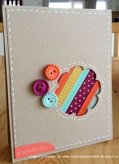 Inspired Paper and Ink, Floral Framelits, Stampin up card, Sale-a-bration buttons and ribbon